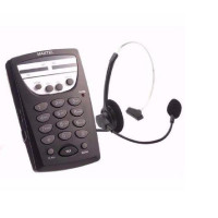 Maxtel - MT108 Telefone Headset base discadora e conector RJ11