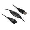 Unixtron - HD800 QD - Cabo Quick Disconnect USB com controle de volume