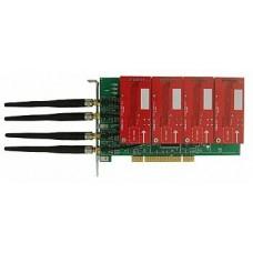 Placa Khomp KGSM-40SPX - c/ 4 módulos GSM