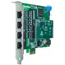 Openvox DE410E - Placa Digital com 4 portas E1/T1/J1 Barramento PCI-Express e Cancelamento de Eco